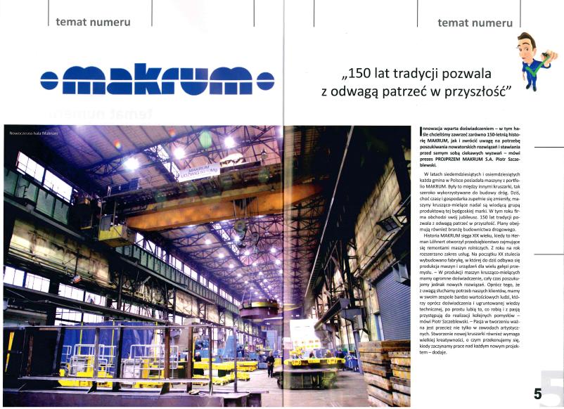 'Polskie Drogi' Magazine about innovative ideas of MAKRUM