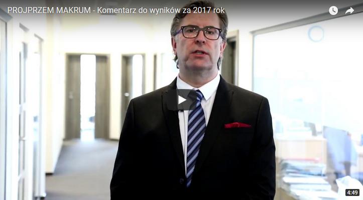 Discussion of results for 2017 by President Piotr Szczeblewski