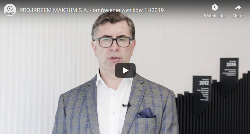 Video commentary on the company's results for the first half of 2019