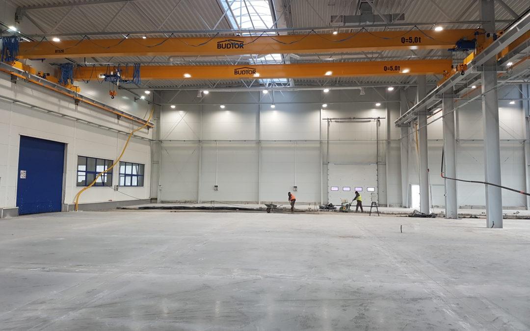 Postępy inwestycji w zakładzie produkcyjnym w Koronowie