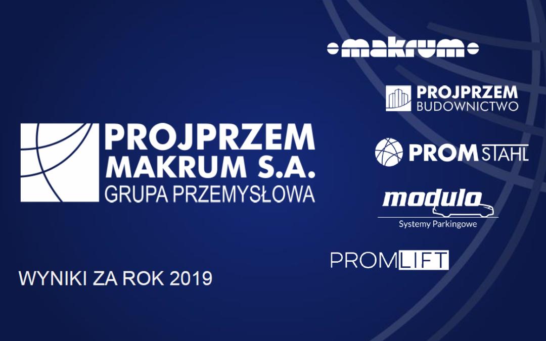2019 results presentation of PROJPRZEM MAKRUM S.A.