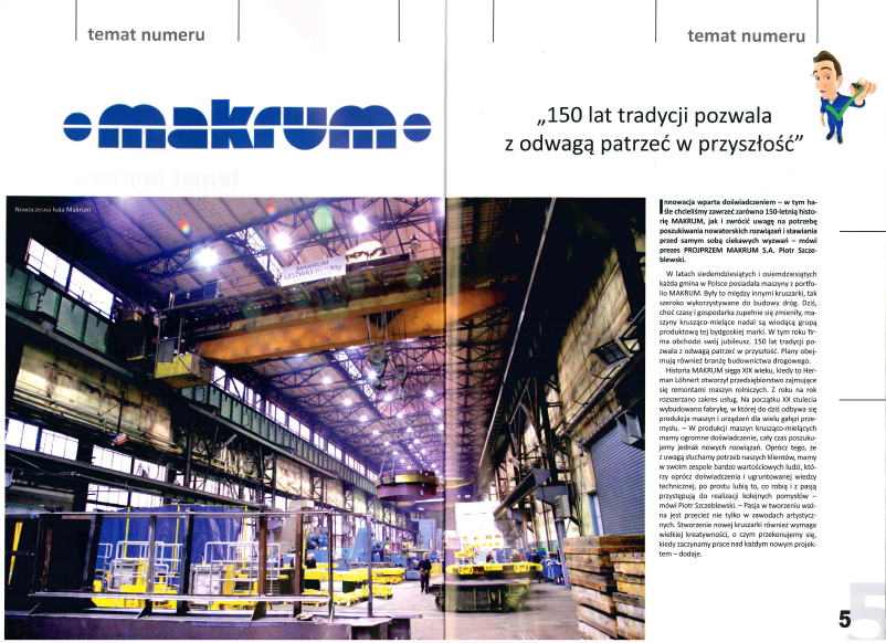 'Polskie Drogi' Magazine about innovative ideas of MAKRUM