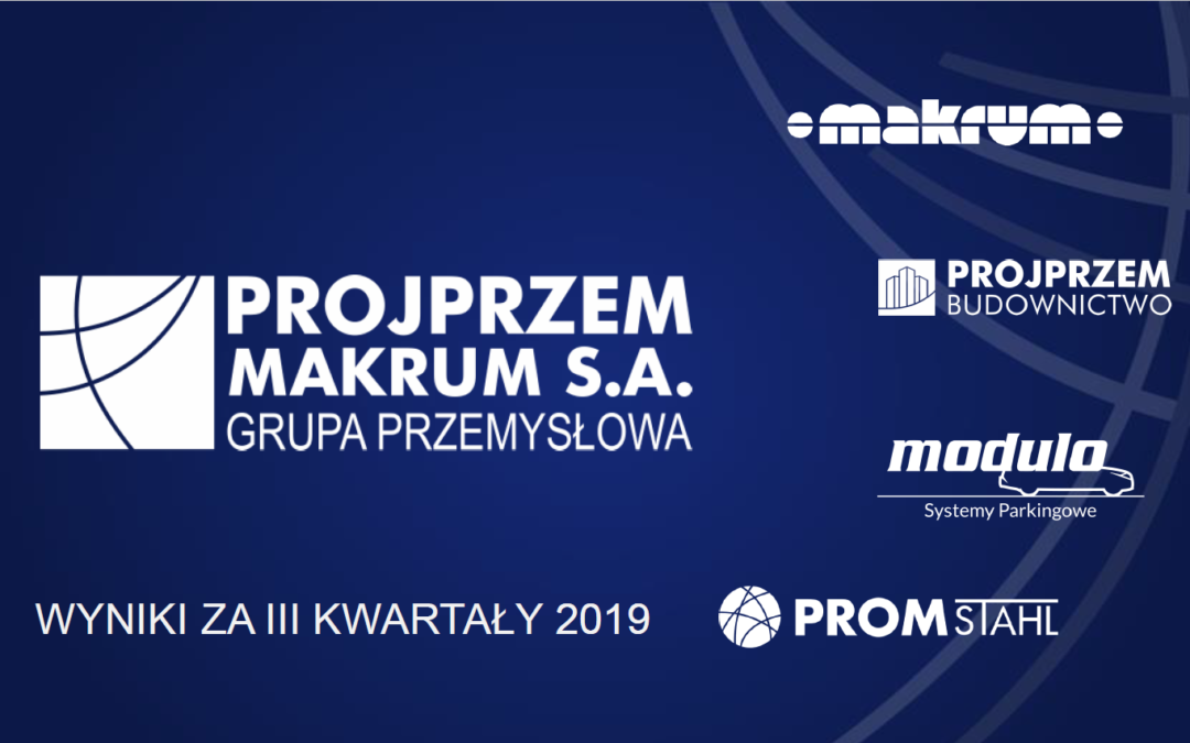 3Q2019 results presentation of PROJPRZEM MAKRUM S.A.